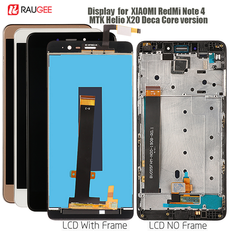 Display For Xiaomi Redmi Note 4 LCD Display Touch Screen Replacement For Redmi Note 4 Display MTK Helio X20 Deca Core Version