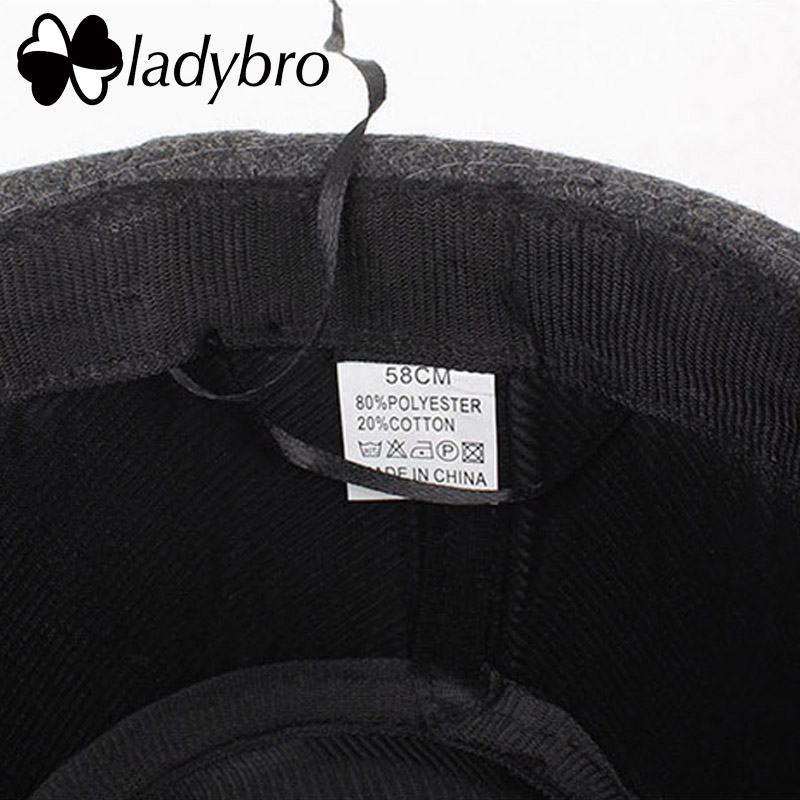 d34efc073e5 Ladybro Warm Panama Hat Men Autumn Winter Hat Women Short Brim Fedoras Hat  Male Vintage Jazz