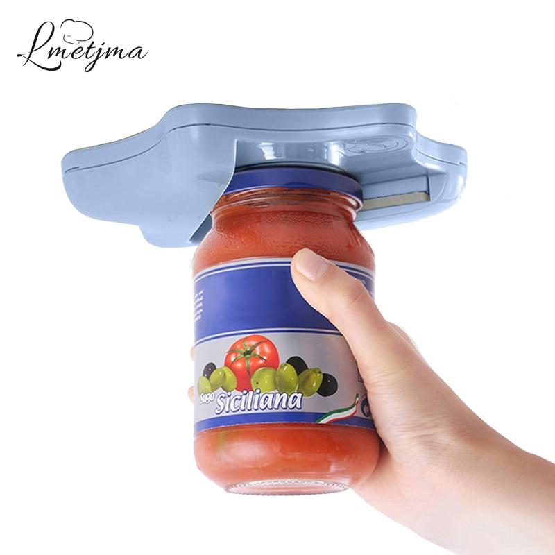 LMETJMA Creative Can Opener Under the Cabinet Self-adhesive Jar Bottle Opener Top Lid Remover Helps Tired or Wet Hands KC0809-5