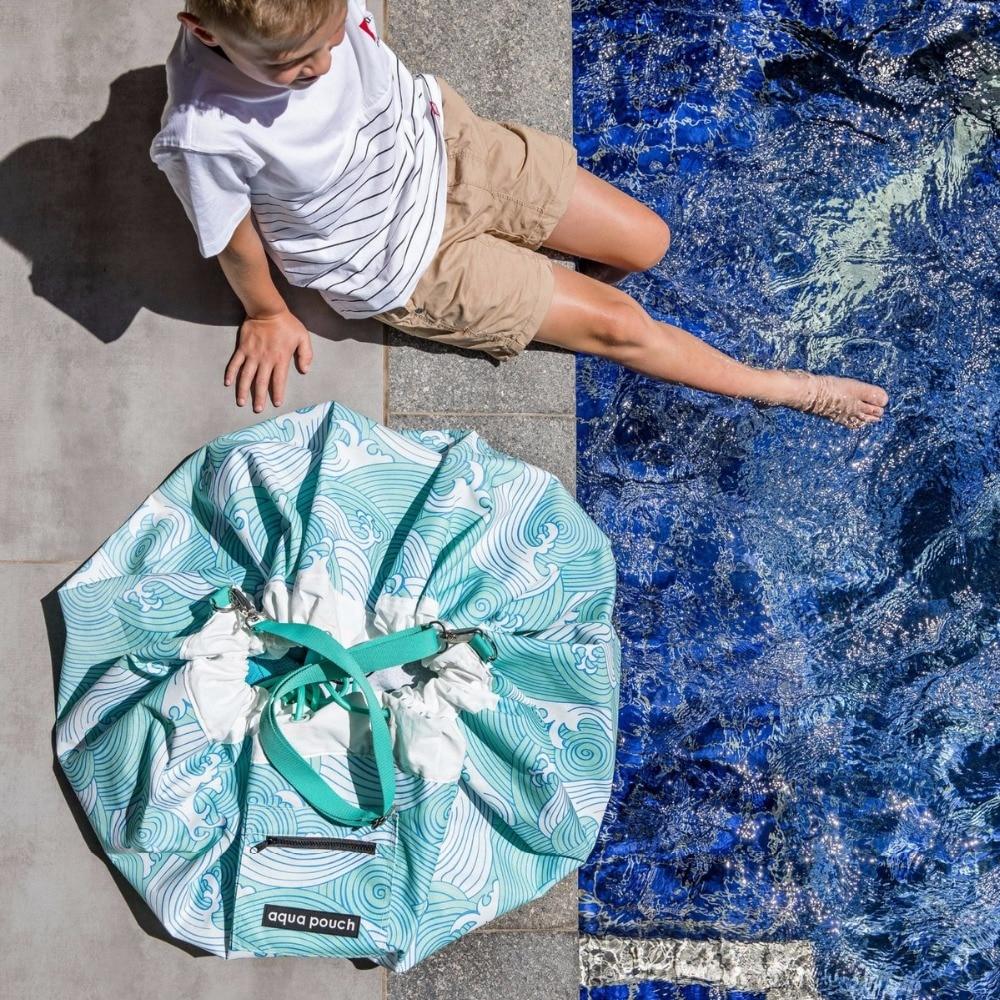 Ocea морская голубая волна с stap или жгут детская мягкая сумка/детский игровой коврик/Детская Холщовая Сумка для быстрого хранения