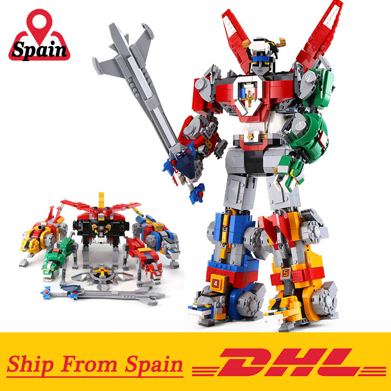 DHL 16057 Voltronly Robot King Compatible with Legoings 21311 Robot Movie set Building Blocks Bricks Toys for Children Christmas