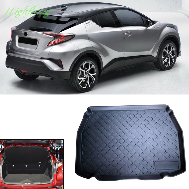 2016 2017 2018 For Toyota C-HR Interior Accessories Car Boot Pad Cargo Liner Floor Mat Protect car interior rear cargo trunk mat pad 1set artificial leather for honda crv cr v 2017 2018 car accessories styling