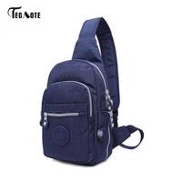 TEGAOTE Hot Nylon Men Shoulder Bag Fashion Trending High Quality Mens Crossbody Bag Black Chest Pack