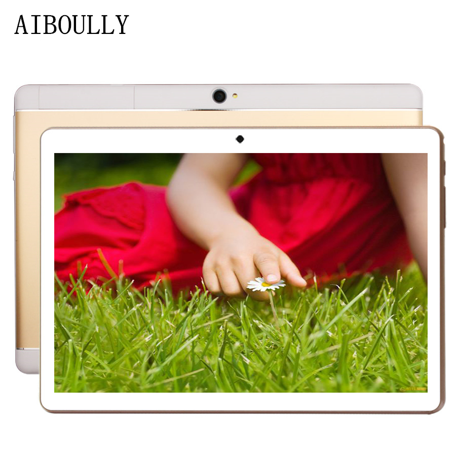 AIBOULLY Android 7.0 OS Phone Call Tablet PC 10.1 Inch Octa Core 3G 4G Phone Tablet 64GB ROM 32GB Ips HD Screen GPS WiFi 8 9.7''