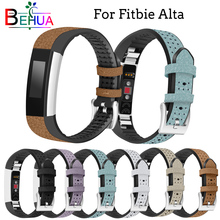 High Quality Durable leather strap For Fitbit Alta watch wristband tracker watchband replacement for Fitbit Alta HR Luxury band crested woven nylon strap for fitbit alta band alta hr replacement band survival bracelet wristband watchband strap fitbit alta