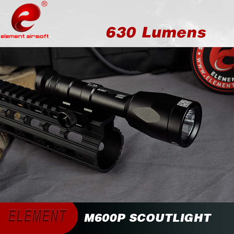 Element Airsoft Weapon Gun Light M600P Scout Lamp 630 LUMEN Superbright Hunting Tactical Flashlight Rifle Picatinny