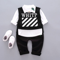 2018 Spring Autumm New Baby Suit Cute Boys Clothing Sets Newborn Girl Suits Fall Cotton Pant+T shirt 3Pcs Clothes set