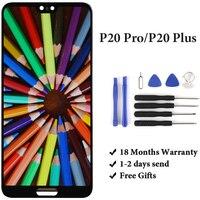 Телефон запасные Запчасти для Huawei p20 Pro ЖК дисплей Дисплей 6,1 дюймов CLT AL01 черный Панель для Huawei p20 плюс Сенсорный экран