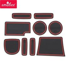 smabee Gate slot mats mats For HONDA AMAZE BRIO 2015-2017 Interior Door Pad/Cup red/blue/white 9 pcs