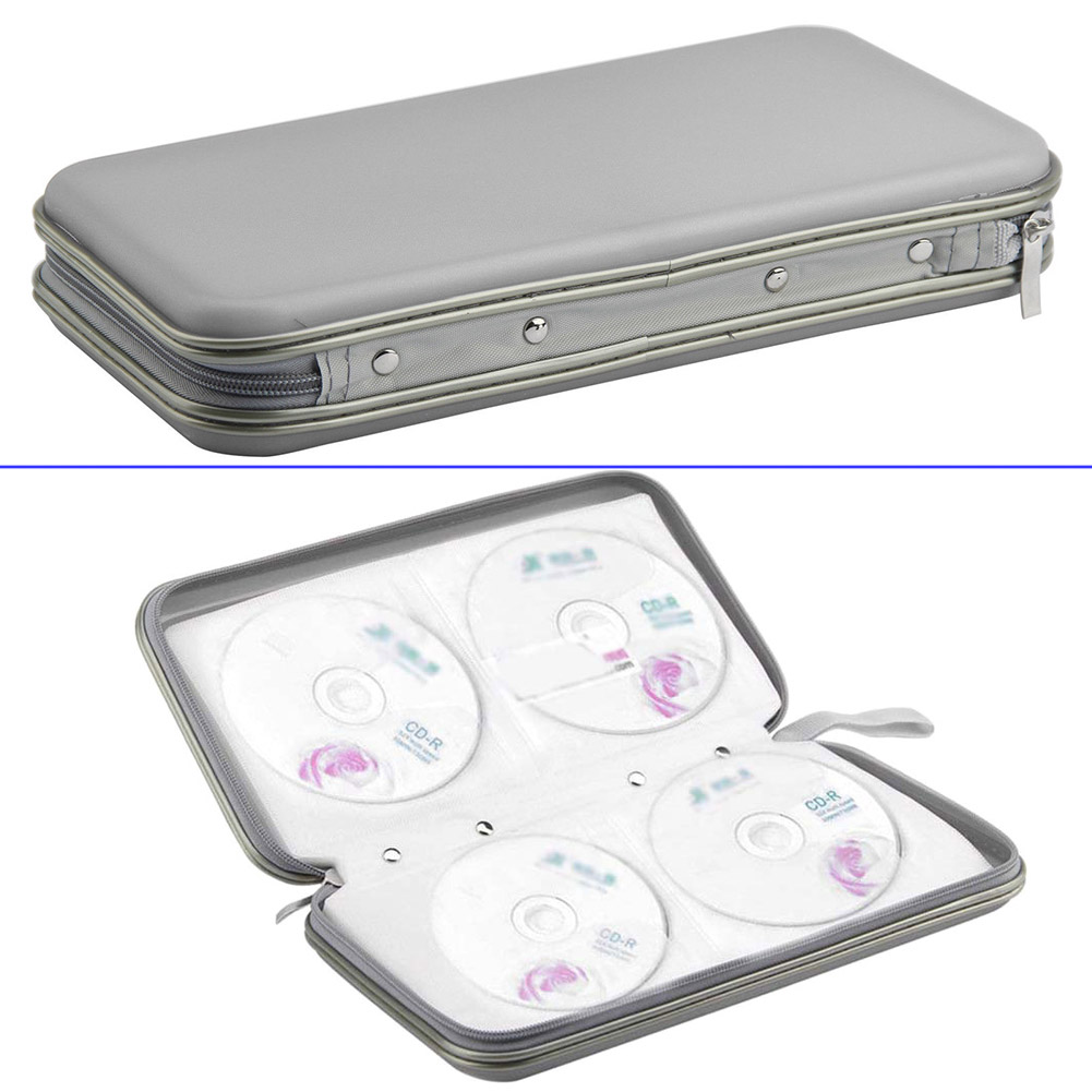 Newly 80 Pcs Disc CD DVD VCD DJ Storage Case Portable Organizer Zipper Wallet Album Bag