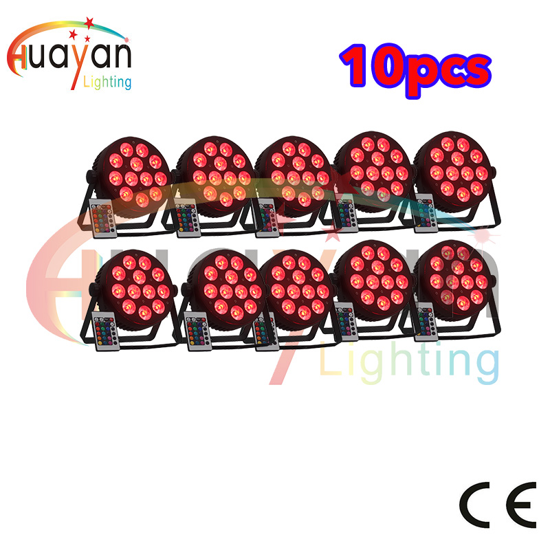 Free Shipping 10pcs/Lot 12*10W Slim RGBW 4in1 Wash Par Can Die-casting Aluminum exterior LED Uplight Wash Stage Wedding Club KTV free shipping 6pcs lot concert stage 6 in 1 zoom wash led par can 18x18w led par ip25 rgbw led wash with zoom