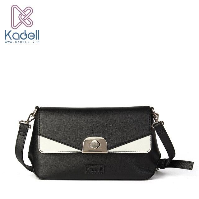 Kadell 2017 женские кожаные сумки известных брендов дизайнер высокое качество сумки на плечо винтажные сумки муфта блокировки сумка