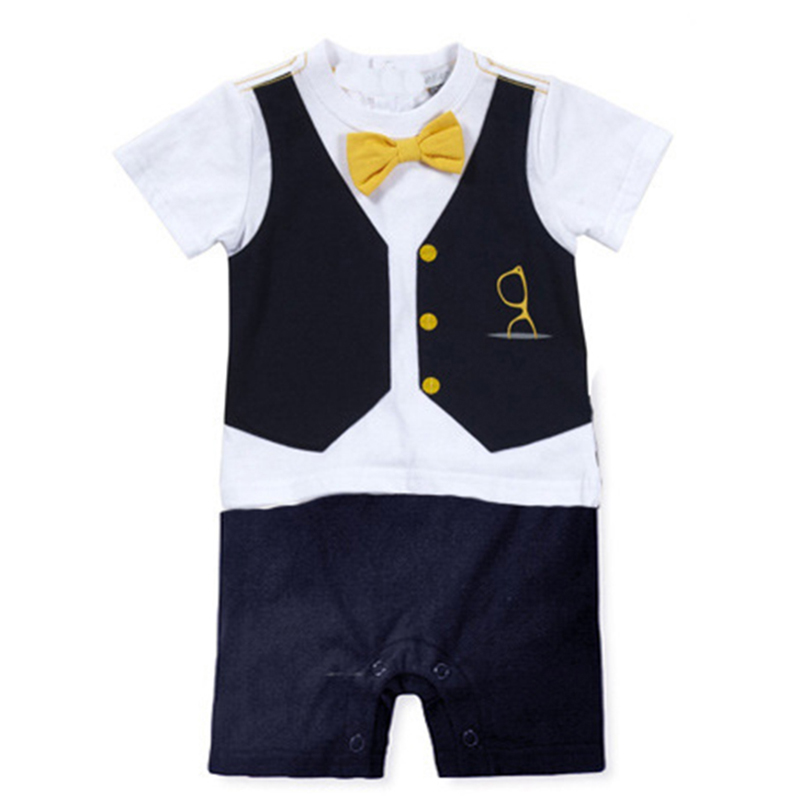 Baby Boy Rompers Summer O Neck Jumpsuits Baby Gentleman Clothes New Cotton Boy Romper Short Sleeve Infant Jumpsuit Boys Clothing new arrival newborn baby boy clothes long sleeve baby boys girl romper cotton infant baby rompers jumpsuits baby clothing set