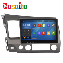 Dasaita 10.2 «Android 5.1 автомобиль DVD GPS плеер Navi для Honda Civic 2006-2011 с 4 ядра стерео Мультимедиа поддержка Зеркало Ссылка