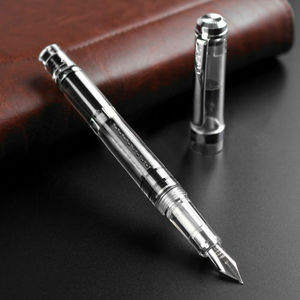 Image 2 - 2020 Model Wing Sung 698 Transparent Piston Fountain Pen Extra Fine Nib Business Stationery Office School Supplies Writing Gift