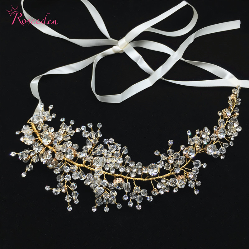 Handmade Crystal bride hair Vine Headbands Princess Bridal Headpiece Hair Decoration Wedding Hair Accessories Jewelry RE797 eemrke cob angel eyes drl for kia sportage 2008 2012 h11 30w bulbs led fog lights daytime running lights tagfahrlicht kits page 5