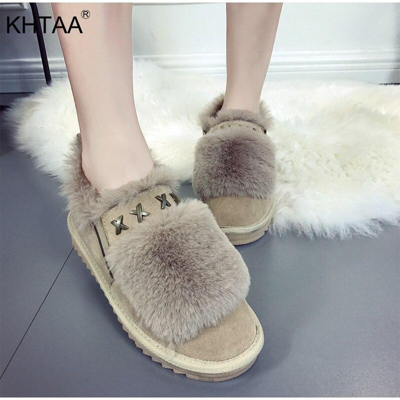 b10a69a23 Comprar Plataforma plana piel caliente señoras tobillo botas de nieve de  invierno deslizamiento en remaches de zapatos cómodos zapatos de mujer 2018  rebaño ...
