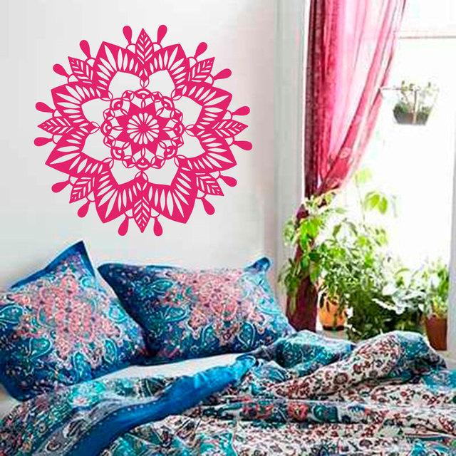 Art Home Decor Mandala Flower Yoga OM Wall Sticker Yoga Buddha ...