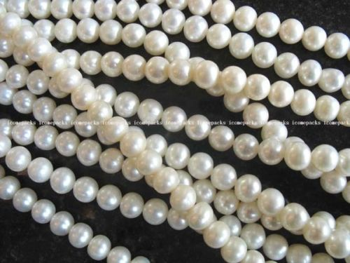 wholesale 10 Strands 6mm A white round freshwater pearl beads wholesale nature amazing wholesale
