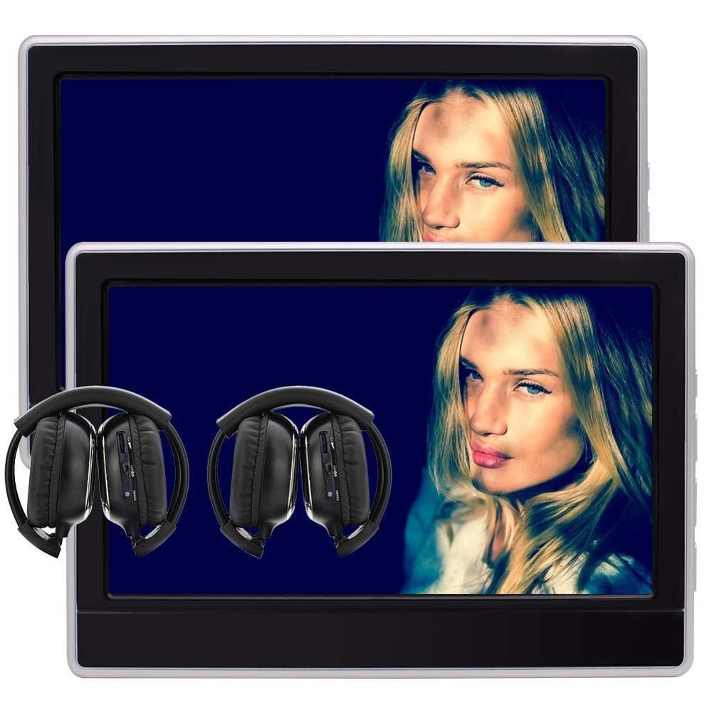Пара подголовник dvd плеер HD 11.6 дюймов цифровой Экран автомобиля Мониторы Дистанционное управление AV в USB/SD HDMI Порты и разъёмы беспроводной И