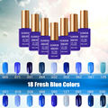 LED Gel UV Azure Gel Polish Blue Nail Polish 15ml Blauwe Nagellak Color Gels for Nails Gel nail Lacquers Gelnagels Oje Mavi