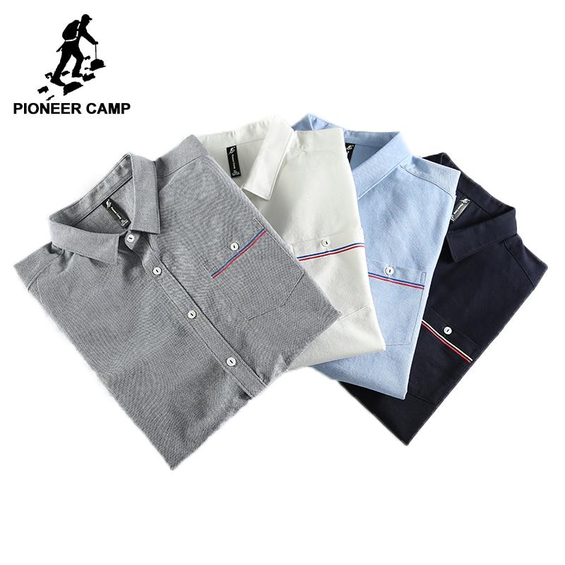 Pioneer Camp New Spring long sleeve casual shirt men brand-clothing social male shirt top quality cotton dress shirt ACC705068