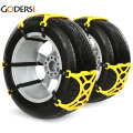 Double Buckles Snow Chains Car Snow Tire Adjustable Anti-skid Chains Thickened Beef Tendon Wheel Chain For Snow Mud Road WX0169