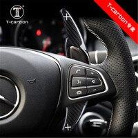 Car styling Real Carbon Fiber Steering Wheel Shift Paddles For Mercedes Benz AMG A45 CLA CLS GLA GLE GLS SL63