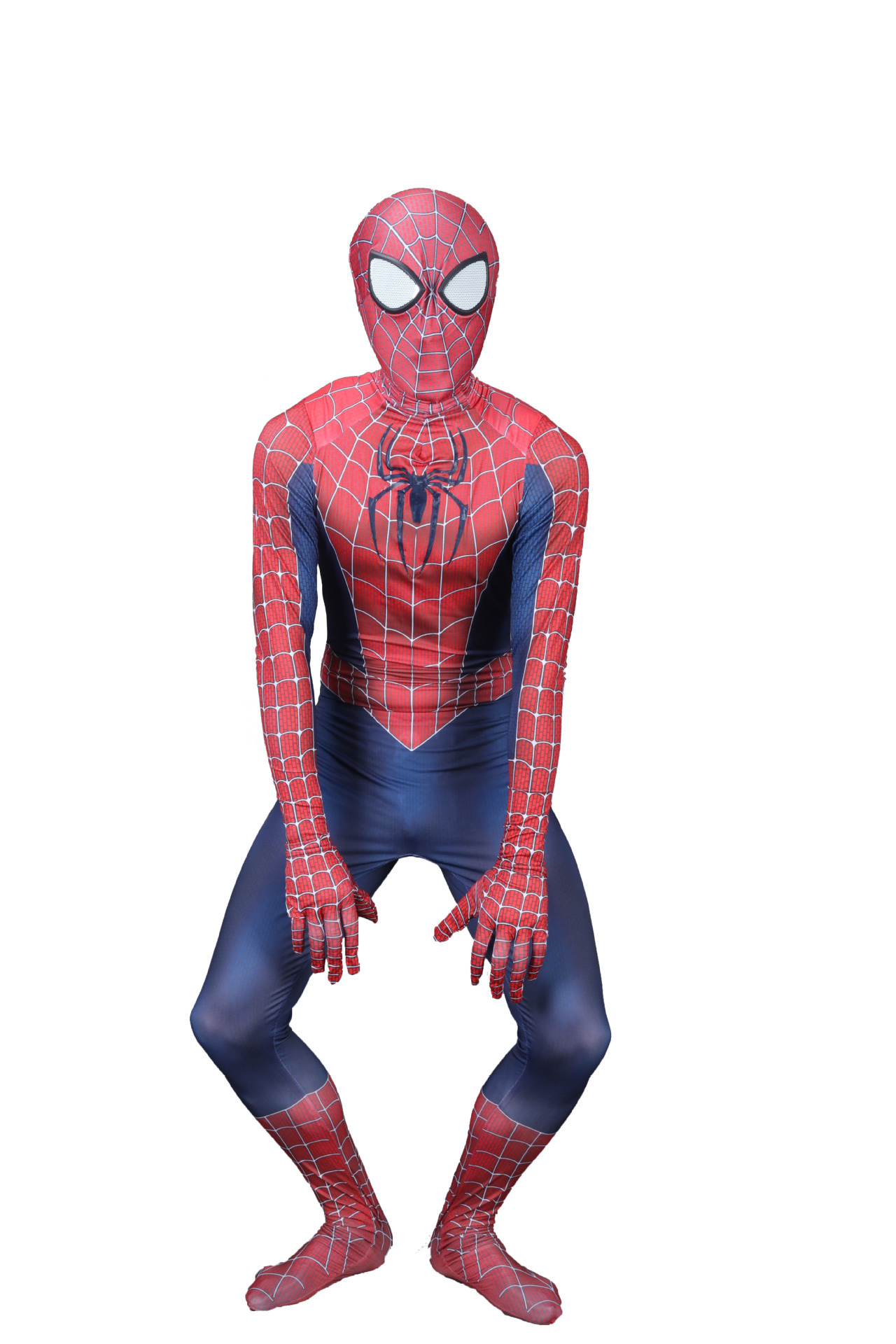 Halloween Kids/ mens Spider-Man Costume Peter Parker Hero Bodysuit Tobey Maguirei Boy Spider Man Jumpsuit Party Fancy Dress