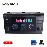 2 Din Android 8.1 Car DVD Player for MAZDA 3 2004 2005 2006 2007 2008 2009 Tape Recorder Radio Head Unit GPS Navigation 2 GBWifi