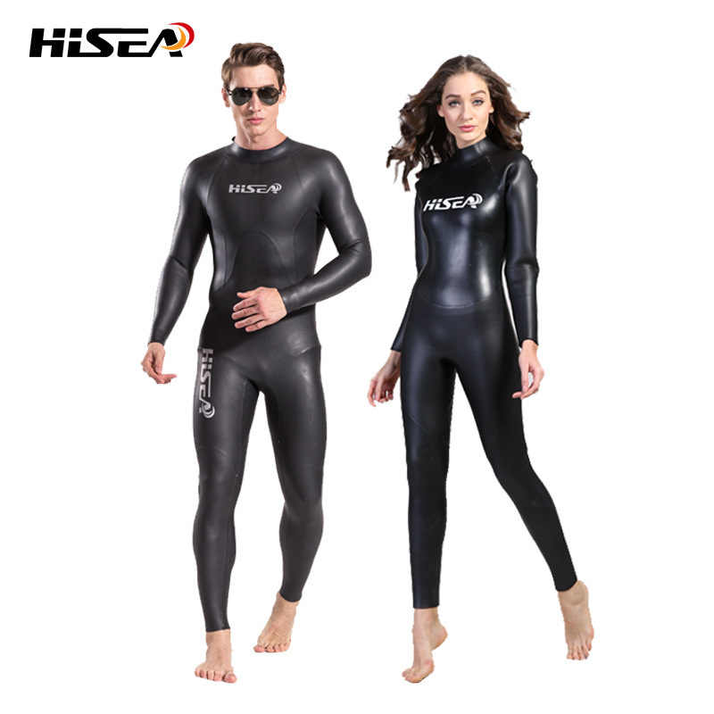 High quality 3mm Men WOMEN Wetsuit Triathlon Sharkskin elastic Smooth skin neoprene soft leather fabric Diving