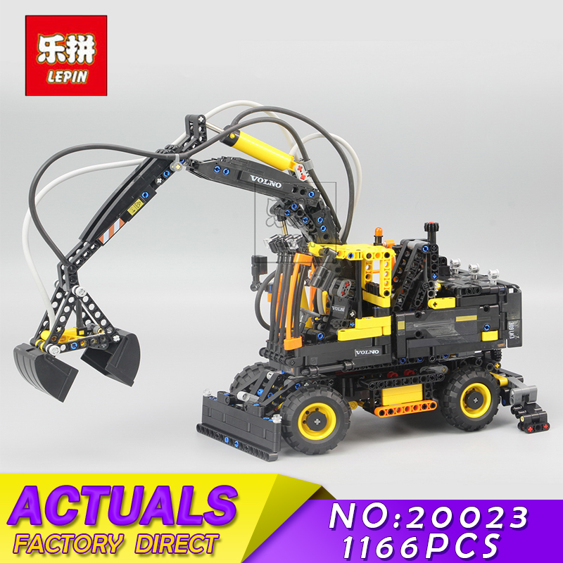 LEPIN 20023 New Technical Ultimate Series The Ew160e Excavator Set Educational Building Blocks Bricks Boys Toys Gift Model 42053