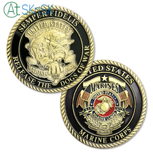 1/3/5/10pcs United States Marine Corps Devil Dog Challenge Coin Semper Fidelis Release the Dogs of War USMC Coins for Collection