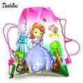 1 Pic niños Satchel bolsos de lazo Sofia For Girls & Boys mochila de nylon de Impresión de caracteres teenagers2016 nuevo