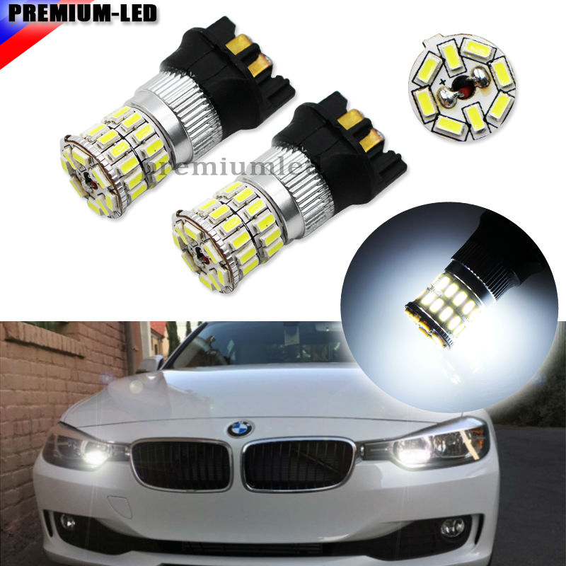 (2) Xenon White 36SMD-3014 PW24W PWY24W LED Bulbs For Audi BMW Peugeot  Volvo VW Turn Signal Lights or Daytime Running Lamps