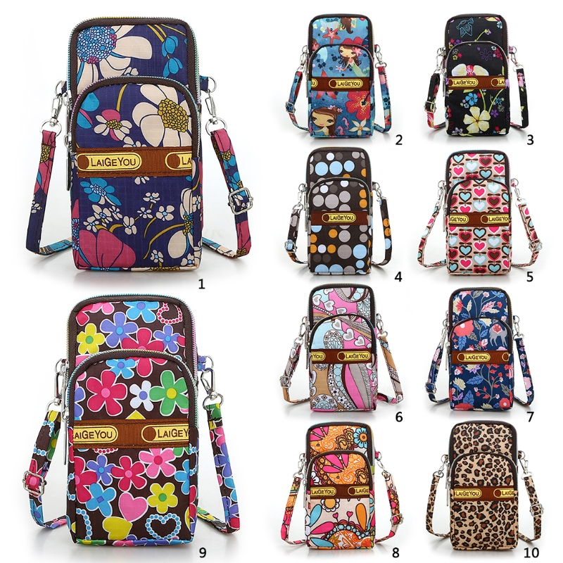 Women Crossbody Mobile Phone Shoulder Bag Pouch Case Belt Handbag Purse Wallet