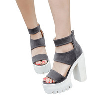 Gladiator Women Sandals Casual Cut-outs Open Toe