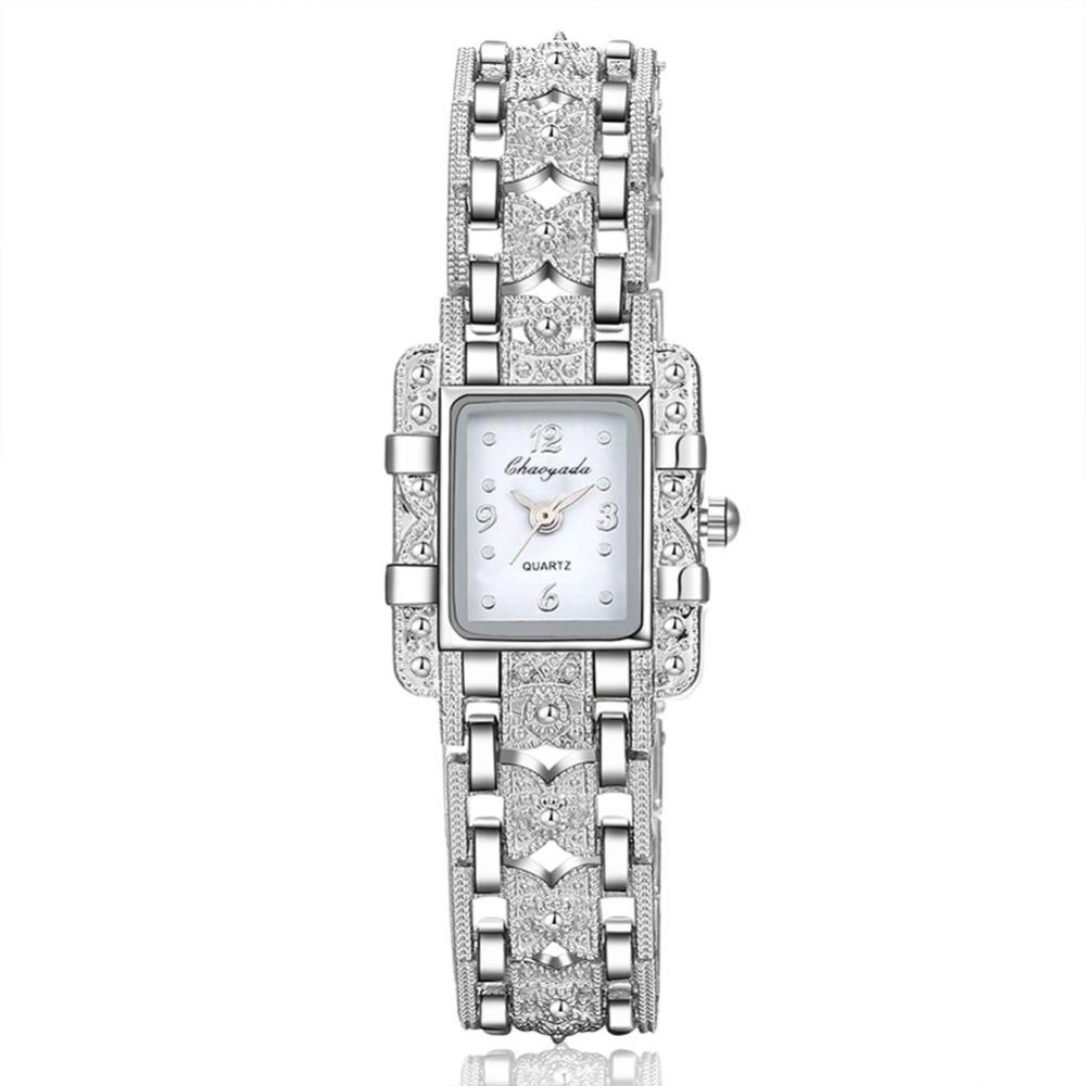2019 New Fashion Bracelet Watches Women Luxury Silver Bracelet Watch Beauty Rectangle Dial Designer Ladies Quartz Wristwatches