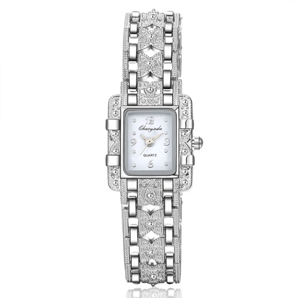 2020 New Fashion Bracelet Watches Women Luxury Silver Bracelet Watch Beauty Rectangle Dial Designer Ladies Quartz Wristwatches