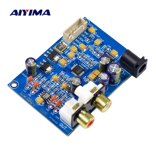 AIYIMA ES9028Q2M DAC Decoder I2S Player Decoding Board DC9-12V DIY For Power Amplifiers Speakers Amplificador Audio Board