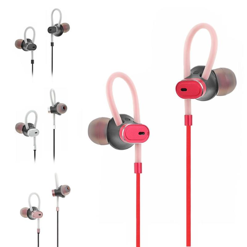 ALLOYSEED GS009 Bluetooth Earphone In-Ear Sport Wire Earphones Stereo Noise Reduction Earbuds With Microphone