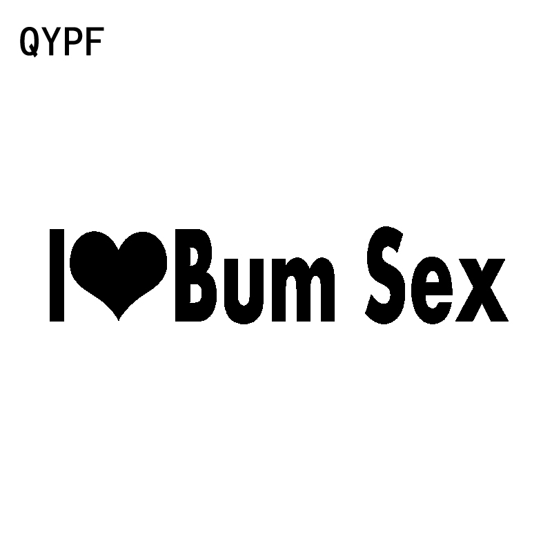 QYPF 15.7CM*3.4CM <font><b>Funny</b></font> Vinyl I Love Bum <font><b>Sex</b></font> Car <font><b>Sticker</b></font> And Decal Black Silver Accessories C15-3029 image