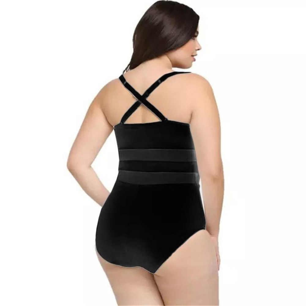OUTAD европейский стиль бикини из одноцветной сетчатой ткани сшивание Соединенные Купальники больших размеров набор для женщин пляжный купальник