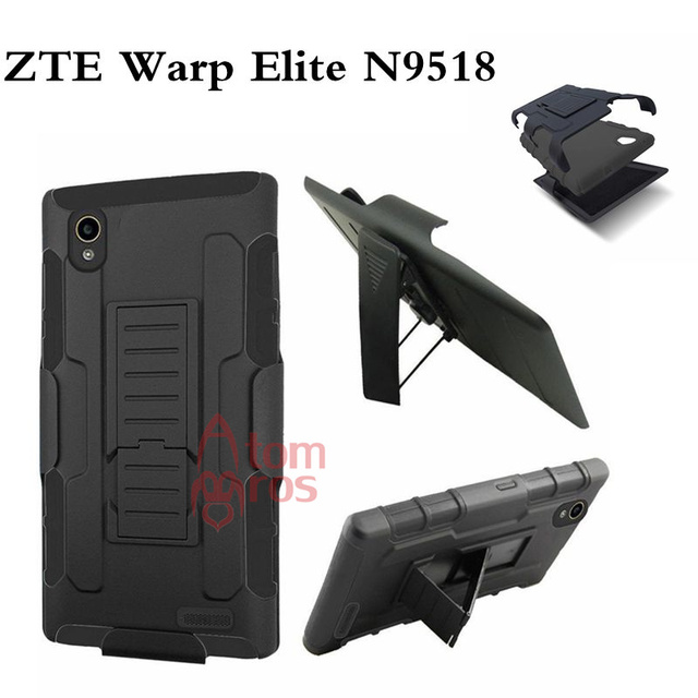 AtomBros Rugged Shockproof Belt Clip Holster Shell Cover Hard Case For ZTE Warp Elite N9518 Heavy Duty Armor Cases Kickstand