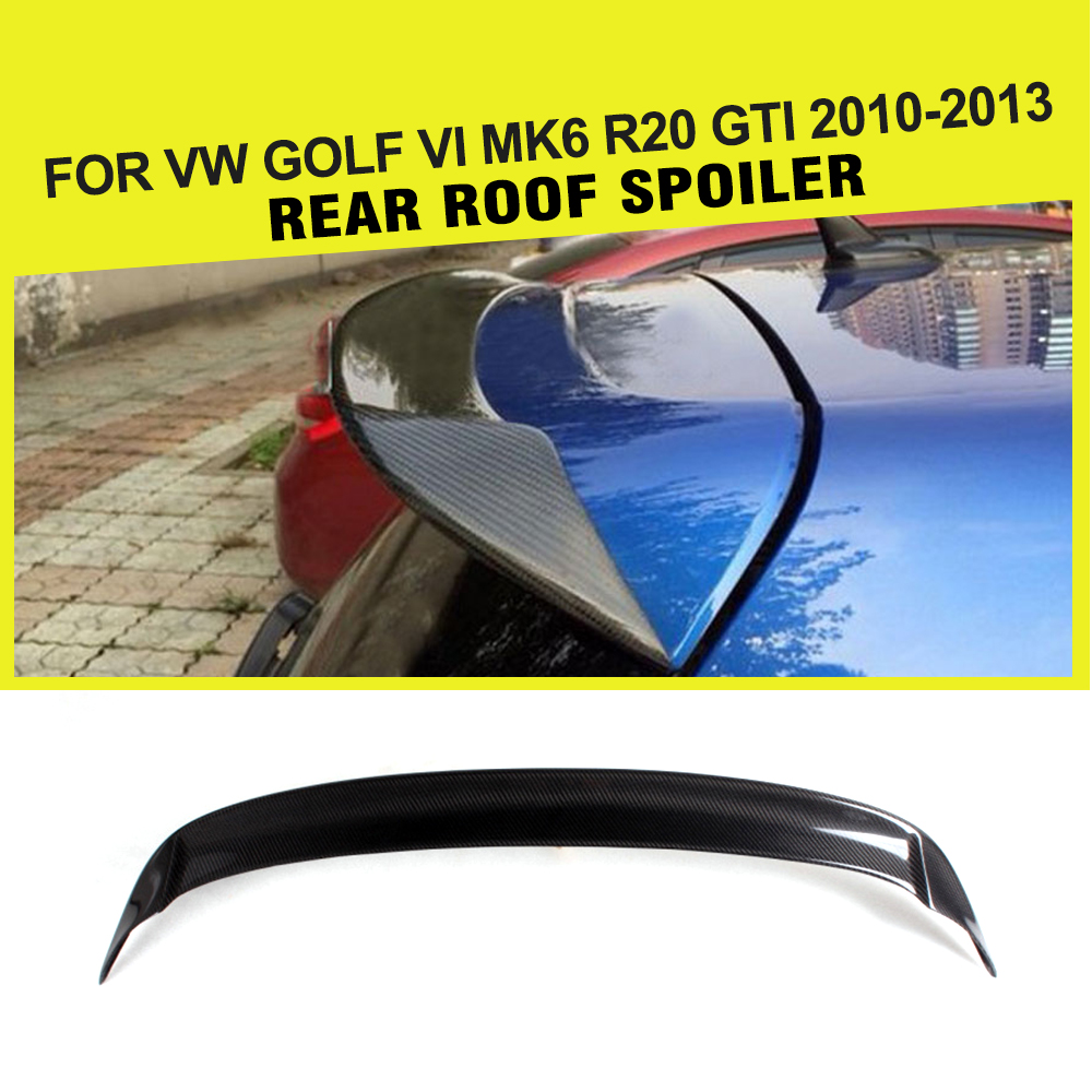 цена на Car Style Carbon Fiber / FRP Car Rear Roof Lip Spoiler Wing for VW Golf VI MK6 R20 GTI 2010 - 2013