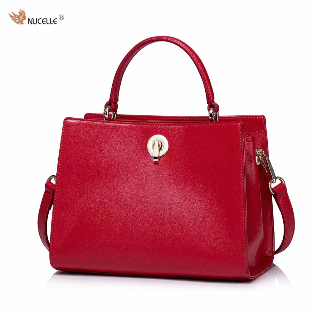 NUCELLE Brand Women's Designer Handbags Fashion Casual Cow Leather Lock Ladies Feminine Shoulder Bag Crossbody Bags For Women nucelle fashion flap handbags brand designer crossbody bags for women blue shoulder messenger schoolbag bolsos mujer de hot sale