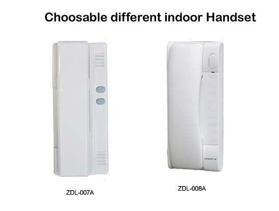 ZHUDELE327R 2 wires audio Door Bell intercom door phone for 14 apartments, RFID panel audio door phone