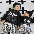 Baby Boys Letter MAMA Printed Casual Clothng 2pcs/Set(Long Sleeve T shirt+Pants) Infant Girls Sport Clothes Suits Newborn