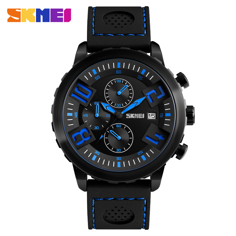 SKMEI Fashion Sports Watches Men Quartz Wristwatches Watch Men Waterproof Sport Military Watches Men Clock relogio masculino