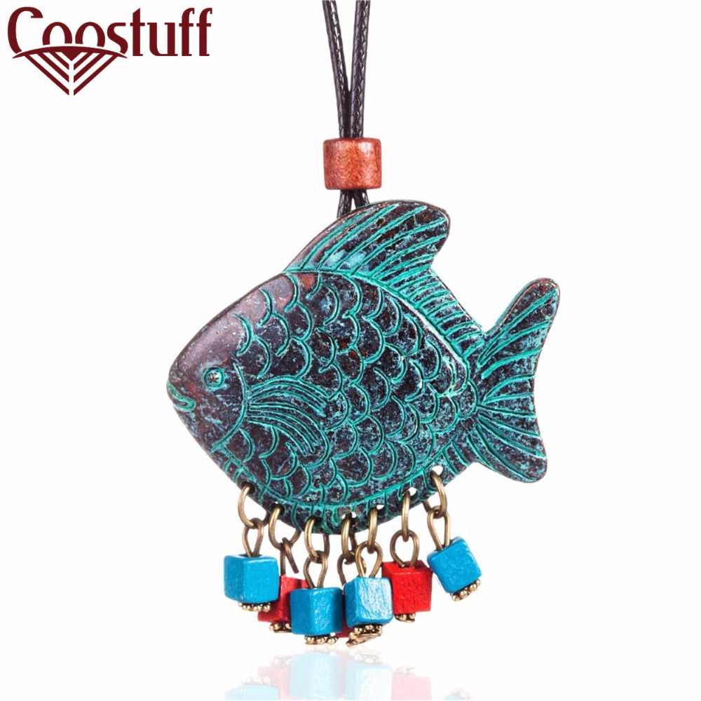 2017 Vintage Jewelry Fish Choker Necklaces Women statement necklaces & pendants Woman necklace collares colar collier
